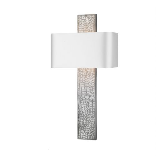 Croc Wall Light Pewter + Silk Shade (Specify Colour) CRO0799 (7-10 day Delivery) (Double Insulated)